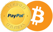 PayPal & Bitcoins Accepted